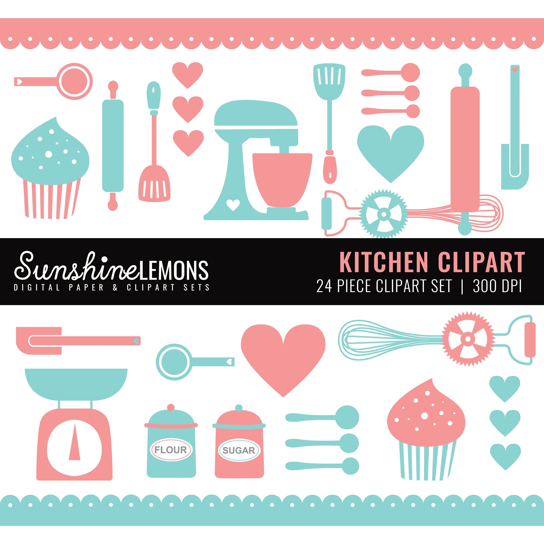 Kitchen Clipart Baking Clipart Kitchen Utensils Clipart