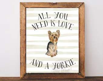 Download All you need is love and a dog   Etsy
