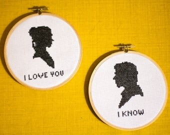 Download Star Wars I Love You. I Know. Leia & Han Solo quote Printable