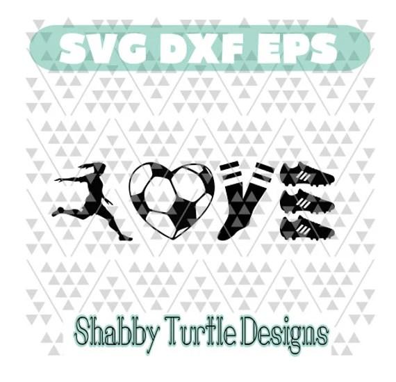 Download Soccer Love Girl SVG DXF EPS
