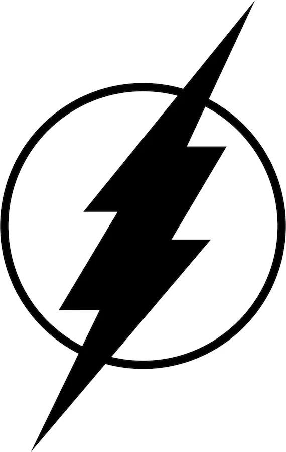 the flash logo single colorfreshcutcustomvinyl on etsy