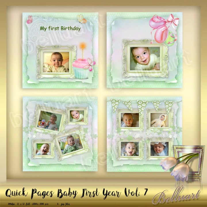 Baby S First Year Photo Frame Template   Frameswall.co