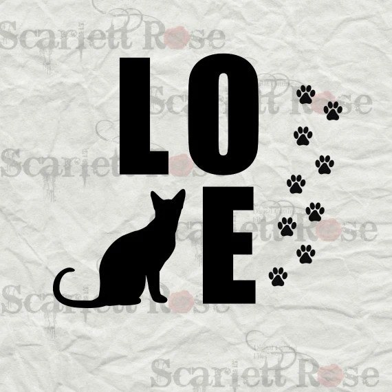 Download Cat Love SVG cutting file clipart in svg jpeg eps and dxf