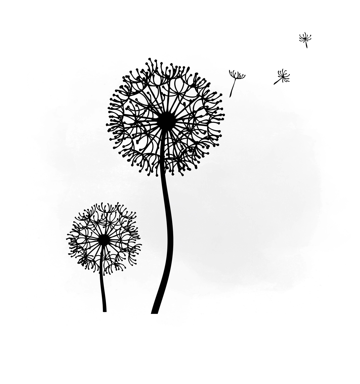 Dandelion Svg Clipart Dandelion Svg For Silhouette Svg