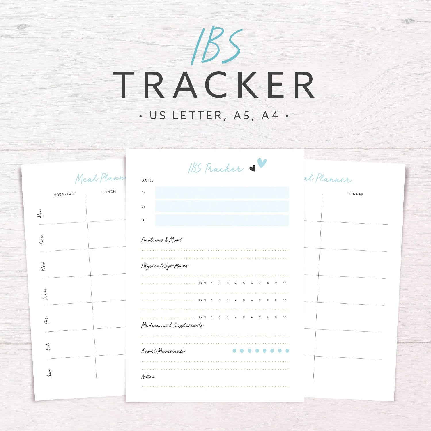 Ibs Tracker Food Diary Allergyt Tracker Meal