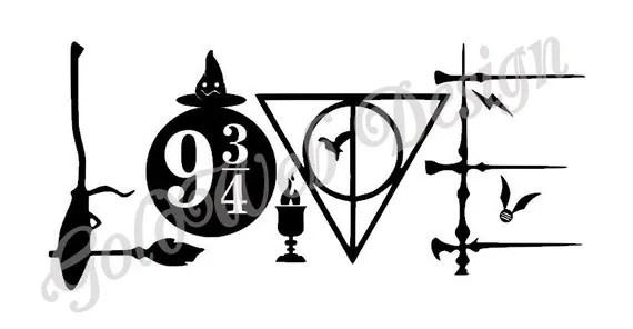 Download Love Harry Potter Inspired Vinyl Car Decal