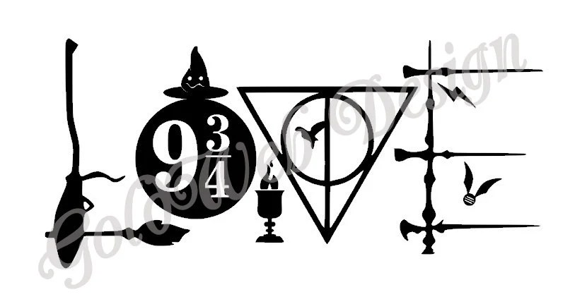 Download Love Harry Potter Inspired Vinyl Car Decal