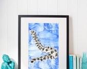 Snowflake Eel Painting Ar...