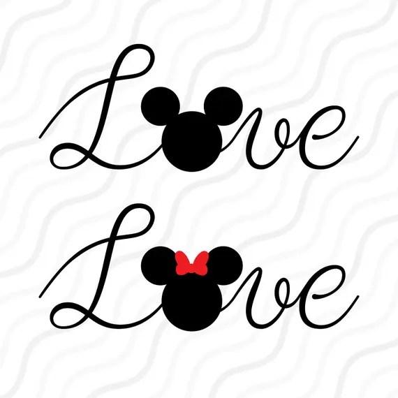 Download Love Mouse SVGLove SVG Disney Valentine Love Quote SVG Cut