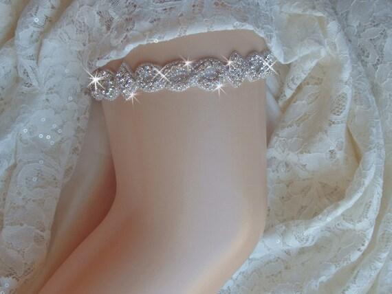 Items Similar To Top Selling Rhinestone Wedding Garter