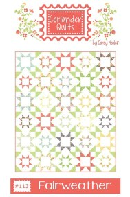 Fair Weather Quilt Pattern by Corey Yoder / Fat Quarter Friendly, Scrappy Sawtooth Star Quilt Block Pattern