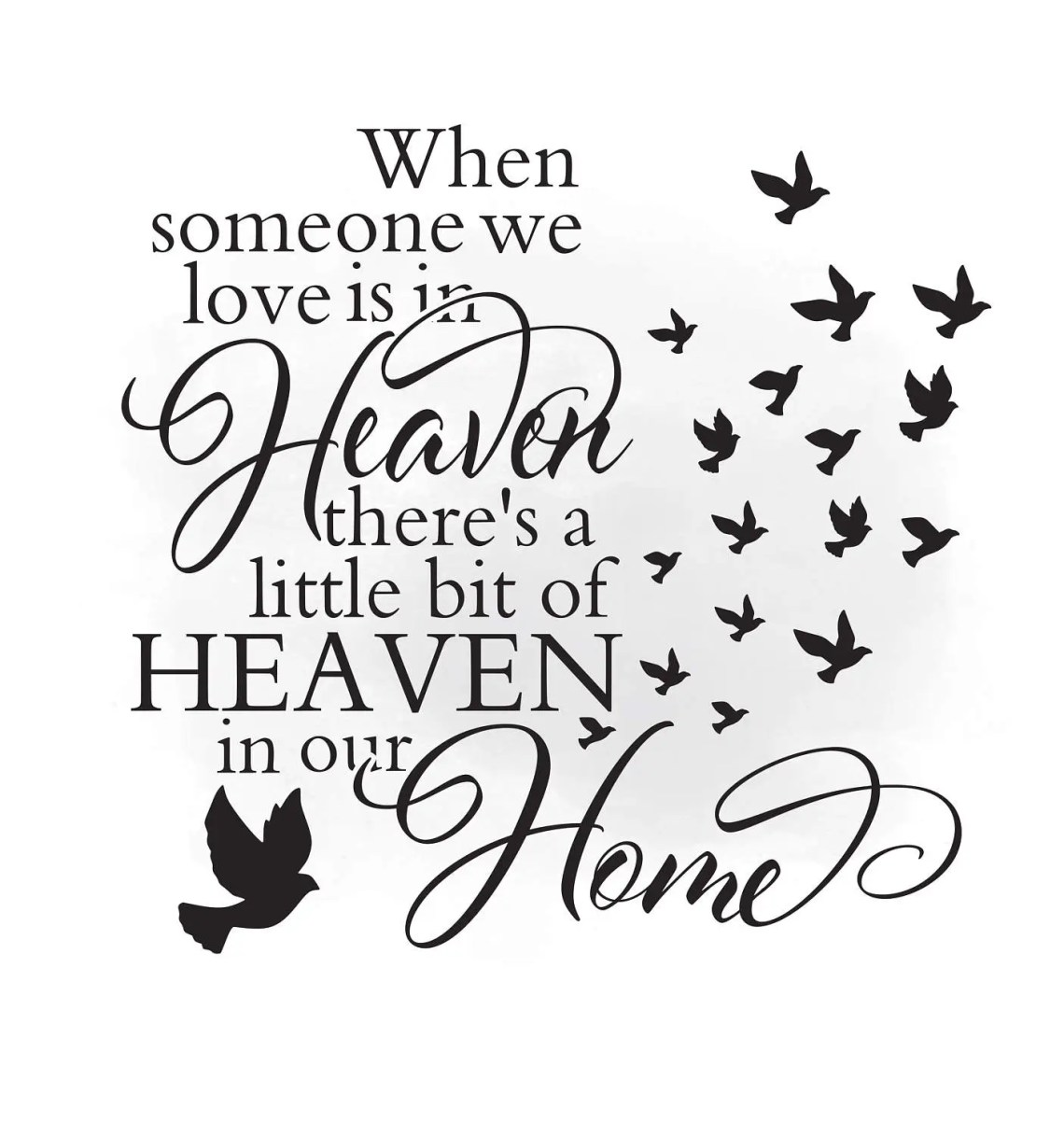 Download Heaven in our home SVG clipart in loving memory Quote Art