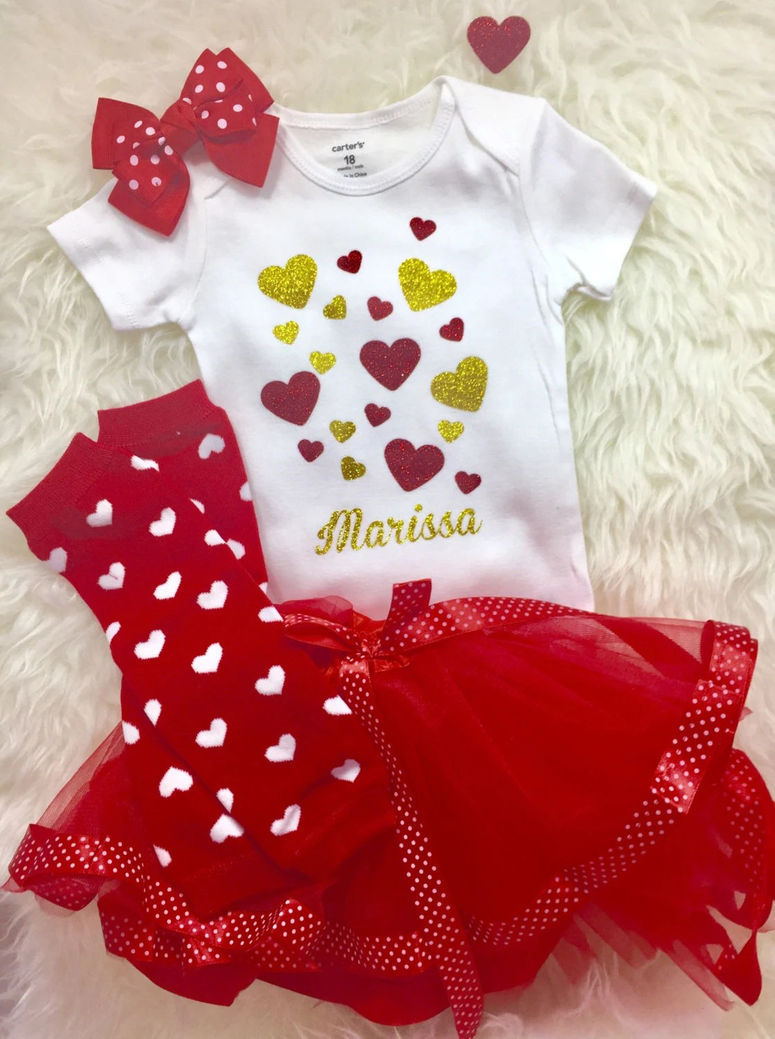 Toddler Girls Valentines Day Outfit Baby Valentines By