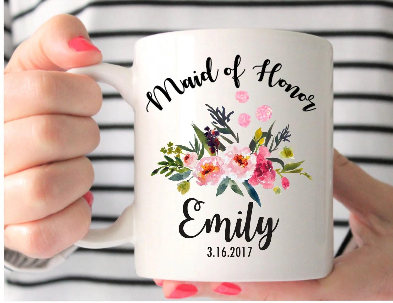 Maid Of Honor Mug Custom Wedding Mug Maid Of Honor Gift
