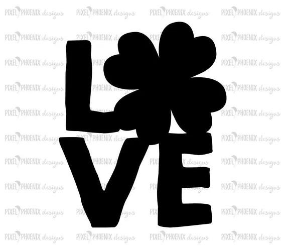 Download Shamrock Love Svg - Layered SVG Cut File