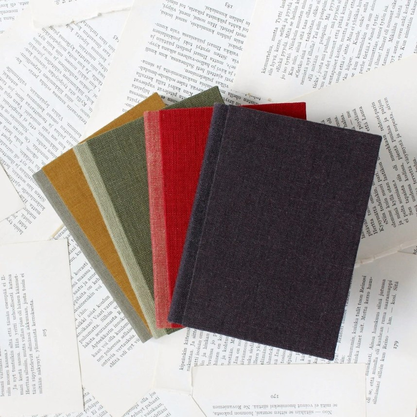 Small Linen Notebook with...