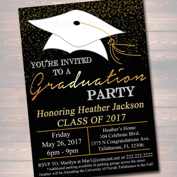 High School Graduation Invitation Cards