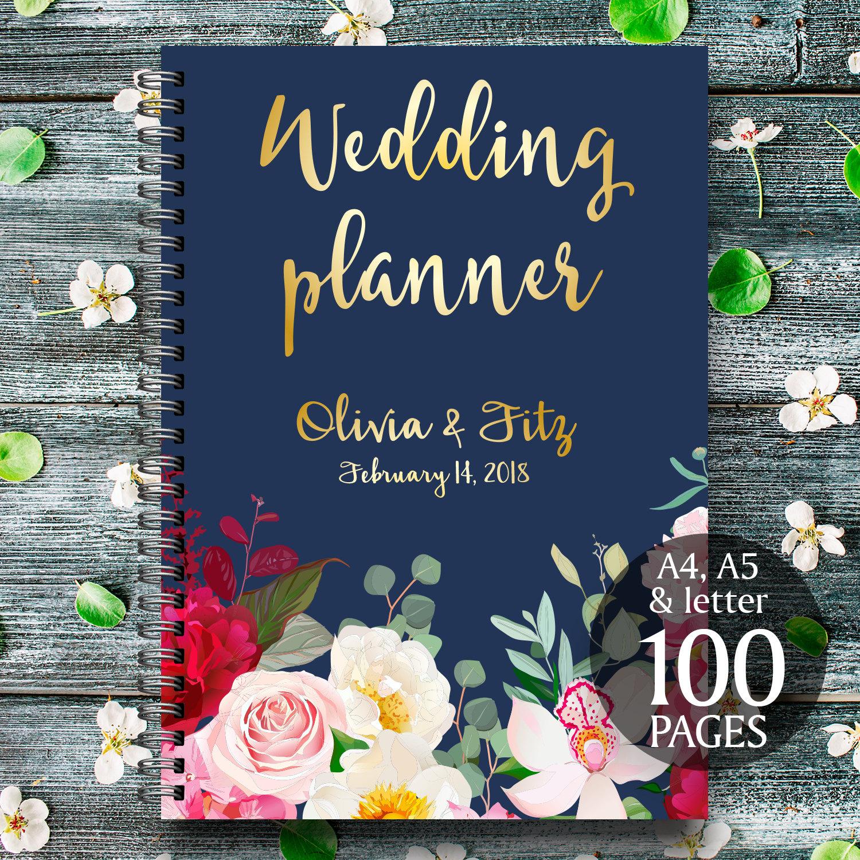 Diy Wedding Planner Navy Burgundy Wedding Binder Printable