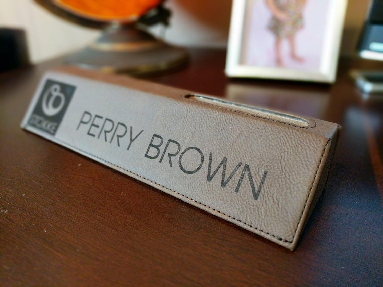 Business Desk Personalized Card Holder