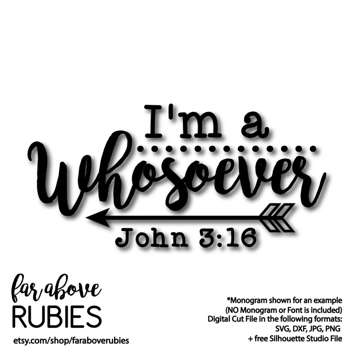 Download Bible Verse I'm a Whosoever John 3:16 with Dots Arrows