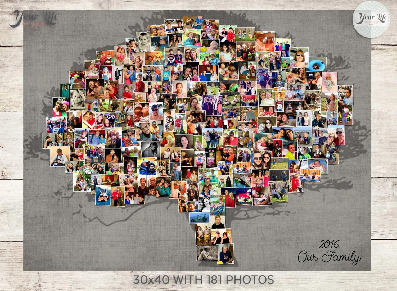 Family Tree Photo Collage Family Tree Wall Art Family Tree