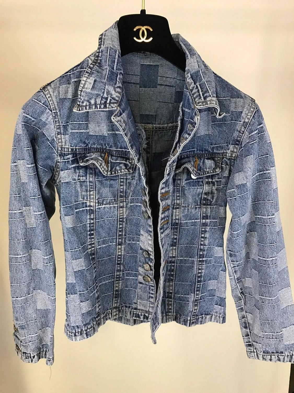 70s Patchwork Denim Jacket Small