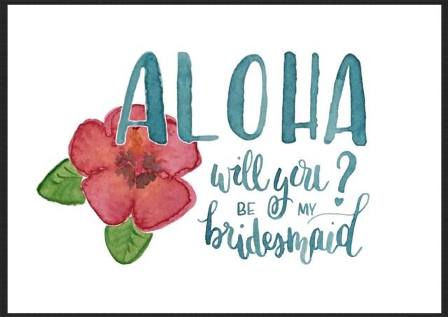 Aloha Bridesmaid Invitati...