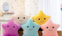 Light Up Star Plush Pillow