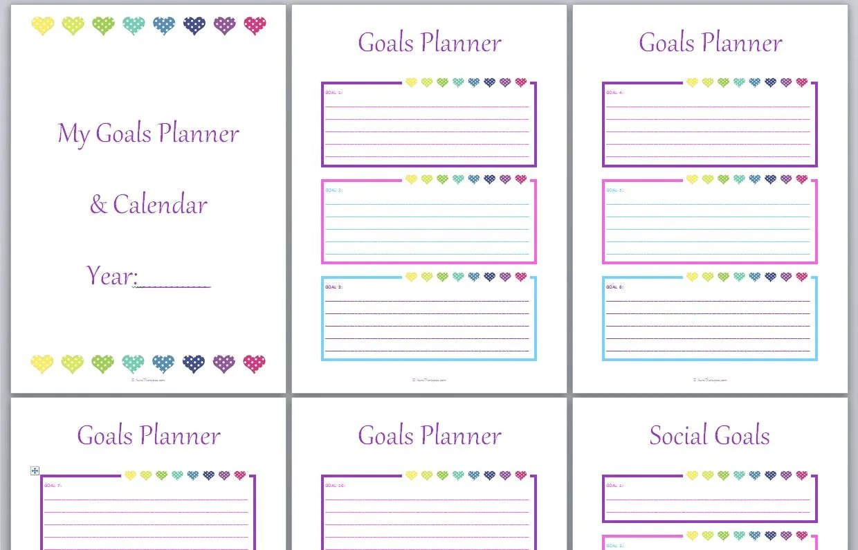 Any Year 40 Pages With Goal Planner Habit Planner Calendar