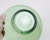 Green glass bowls with ri...