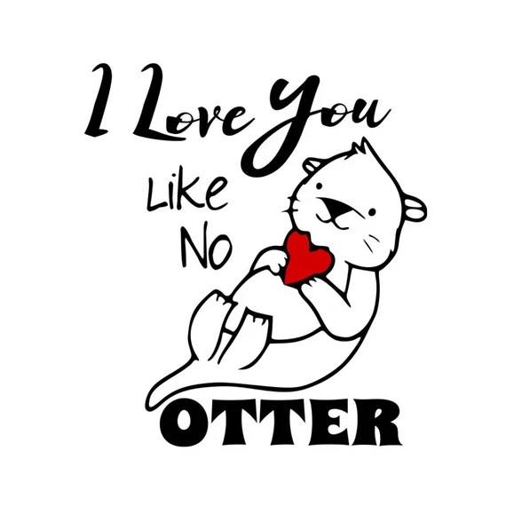 Download SVG I Love You Like No Otter Valentine Design February