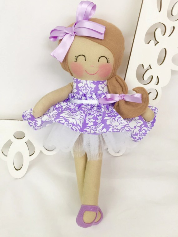 Handmade Soft Dolls, Fabric Doll, Gifts for Girls