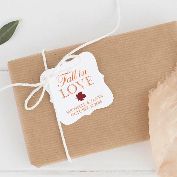 Fall Leaf Wedding Favors
