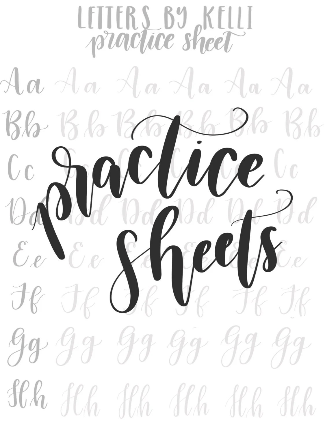 Practice Uppercase And Lowercase Hand Lettering Worksheets From Lettersbykelli On Etsy Studio