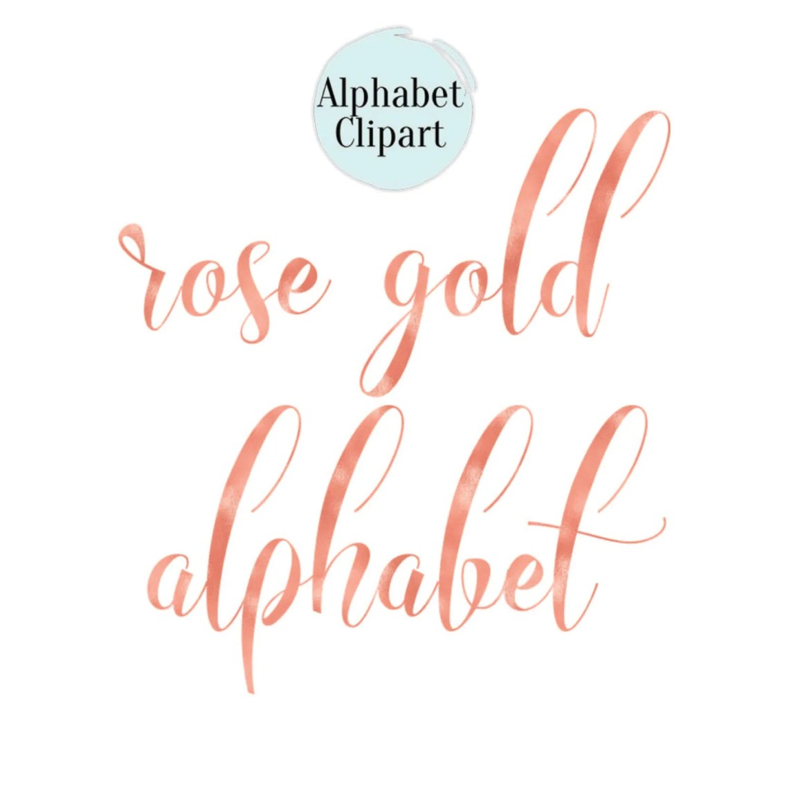 Download BUY 2 GET 1 FREE Rose Gold Alphabet Clip Art Rose Gold Foil