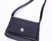 Black leather handbag by ...