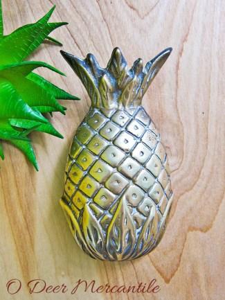 Ornate Brass Door Knocker: Vintage Americana Hospitality Pineapple Door Hardware