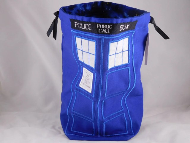 Embroidered Tardis Drawst...