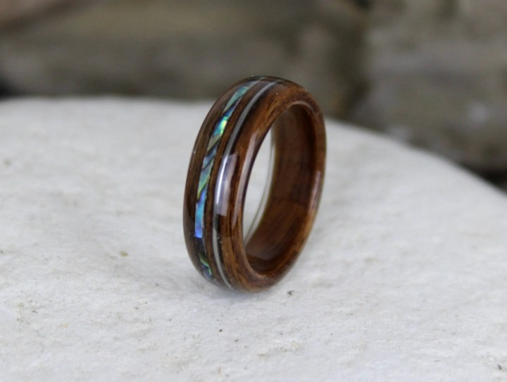 Wood Ring, Rosewood with ...