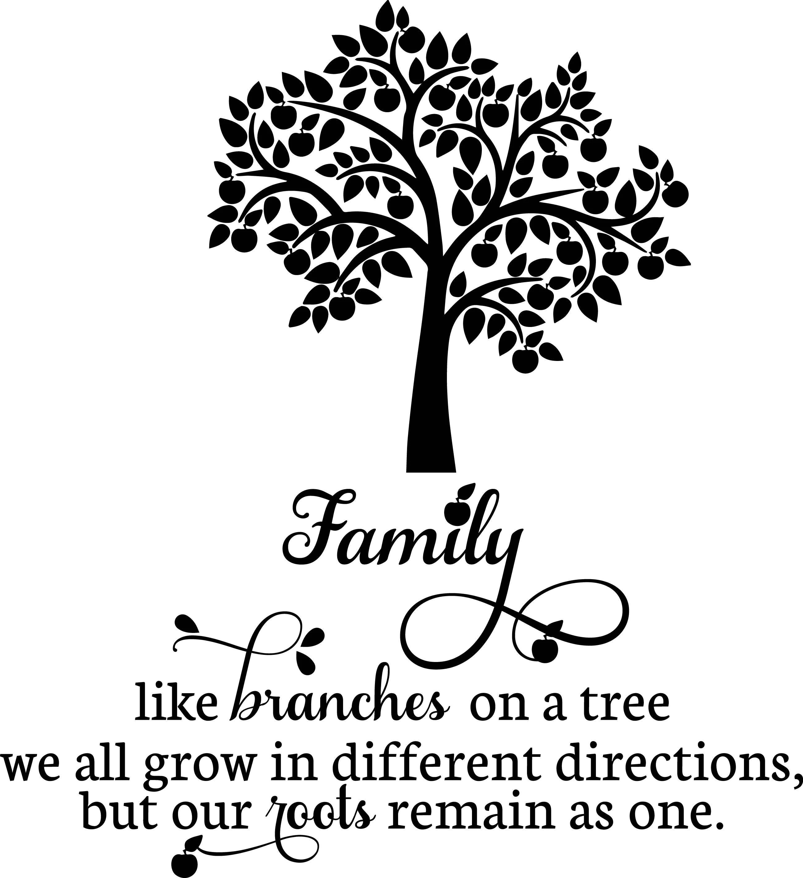 Family Tree Vinyl Wall Decal Sentiment Pesonalize Great