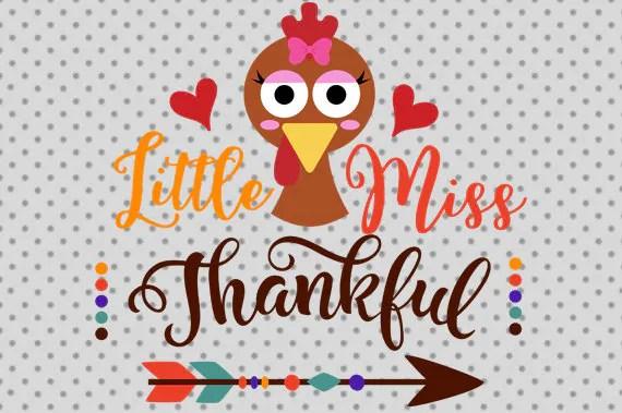 Download Little Miss Thankful svg Thanksgiving SVG Thanksgiving