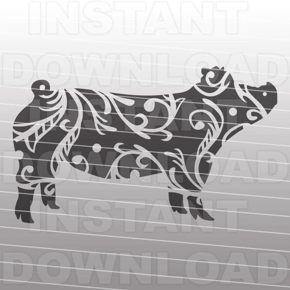 Download Fancy Decorative Ornate Show Pig SVG File,Stockshow SVG ...