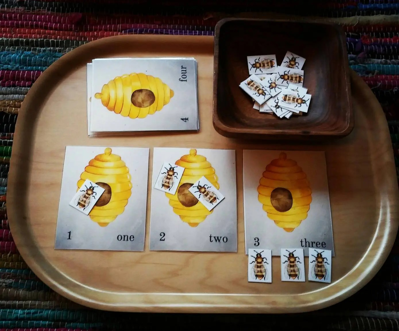 Montrssori Math Honey Bee Theme Preschool Math Counting