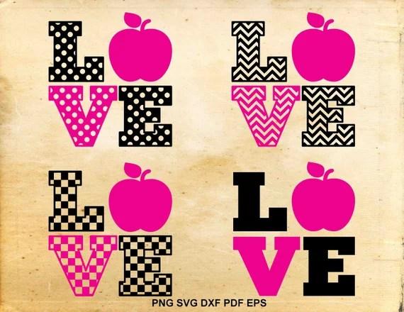 Download Teacher love svg Love school Apple svg file School teacher