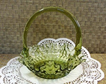 Art Glass Basket Etsy