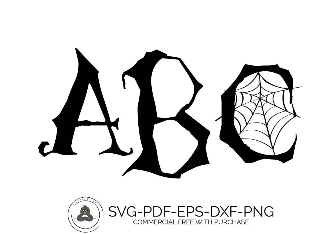 Download Halloween Font SVG Fonts Monogram Fonts Monogram Font SVG