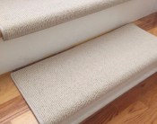 Bristol Ivory New Zealand Wool!-TRUE Bullnose™ Carpet Stair Tread Runner Replacement for Style, Comfort and Safety (Sold Each)