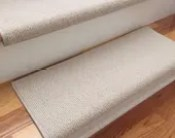 Bristol Ivory New Zealand Wool!-Carpet Stair Tread (Sold Each)