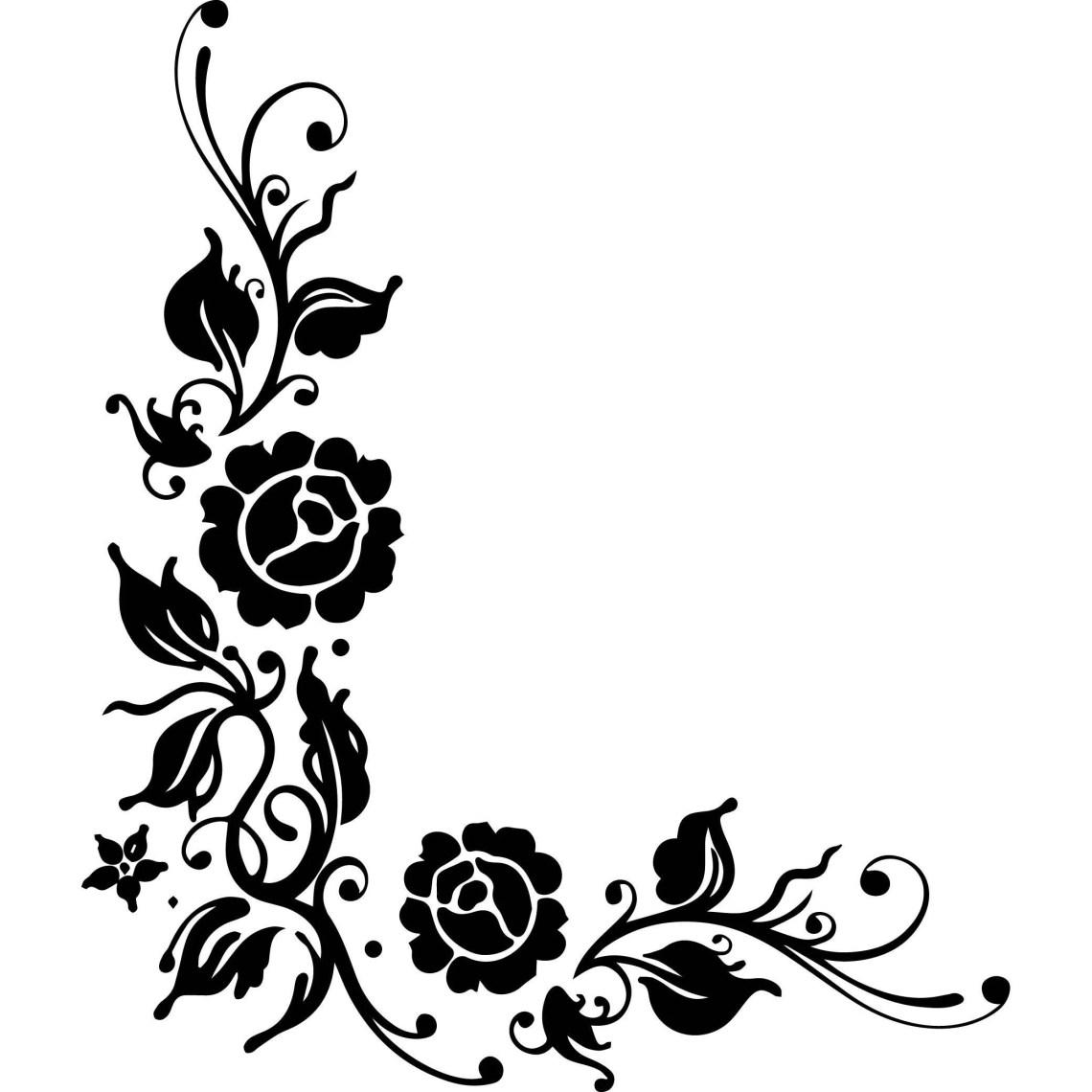 Download Design Corner Border Decoration Logo Flowers Roses Design ...