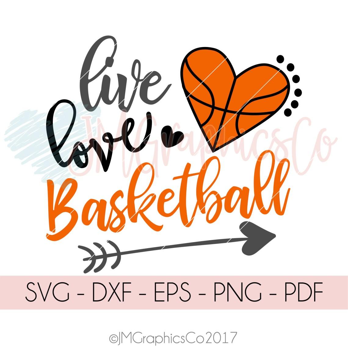 Download Live Love Basketball svg dxf cricut cameo cut file
